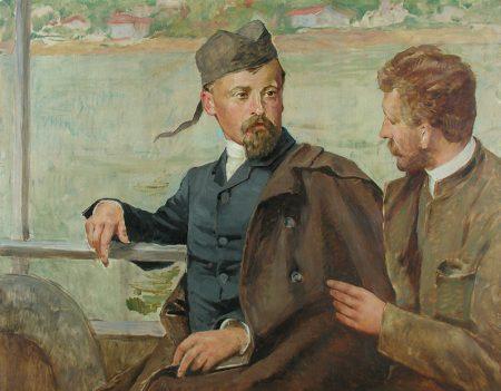 Henryk Sienkiewicz i Kazimierz Pochwalski na statku, niezła sztuka