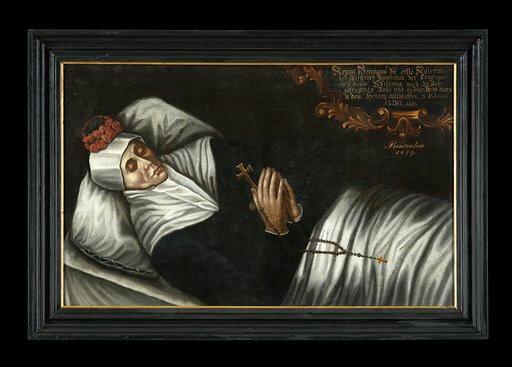 """""""Portret bł. Reginy Protmann"""", XVII wiek. Zgromadzenie Sióstr św. Katarzyny Dziewicy i Męczennicy, Orneta."""