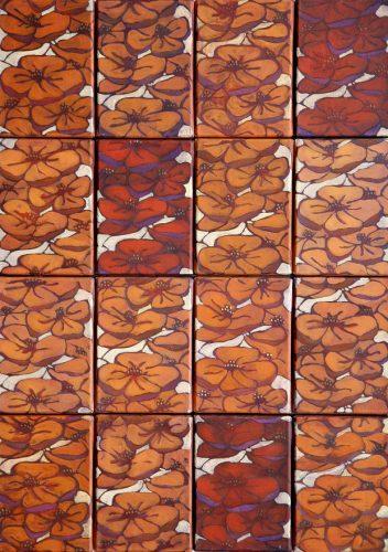 Dorota sak, Rytmy, olej, 80 x 56 cm