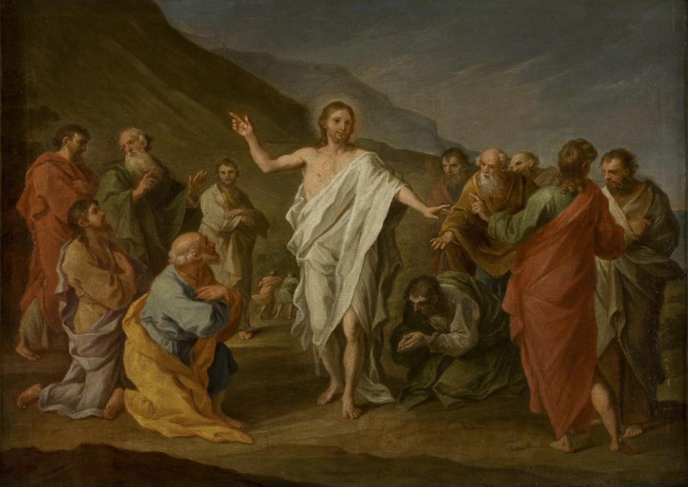 Szymon Czechowicz (1689-1775), Chrystus ukazujący się apostołom po zmartwychwstaniu, 1758, olej na płótnie, Muzeum Narodowe w Krakowie