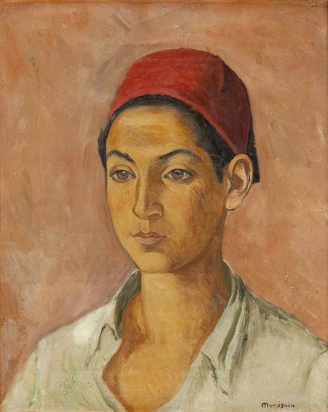 """Szymon Mondzain, """"Portret chłopca"""", 1920, olej na płótnie"""