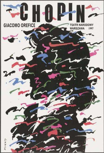 Waldemar Świerzy, Fryderyk Chopin, 1997, plakat, ok. 98x68 cm