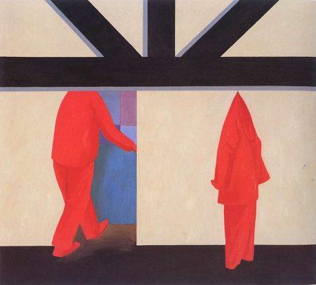 Jarosław Modzelewski, Ubranie, 1990, olej na płótnie, 136x150 cm