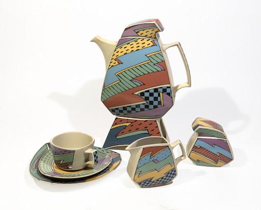 """Serwis do kawy """"Flash"""", projekt Dorothy Hafner, Rosenthal Studio-Line, zbiory Muzeum w Gliwicach, fot. Maciej Głowaczewski"""