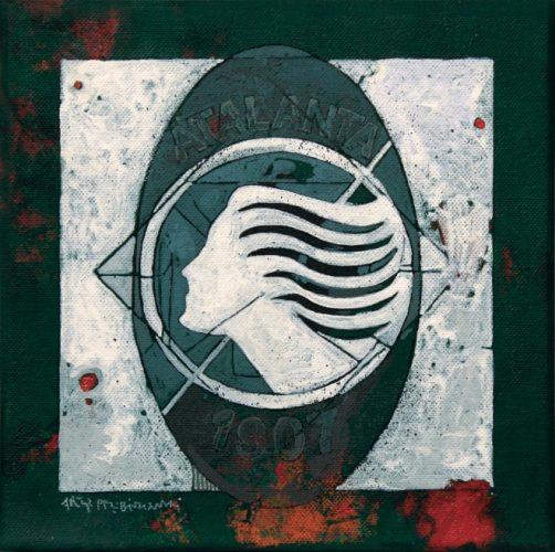 Z serii Znaki, Atalanta, akryl na płótnie, 2013