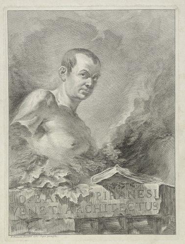 Francesco Polanzani, Portret Giovanniego Battisty Piranesiego, 1750, miedzioryt, kolekcja Adama Broża.