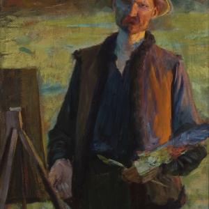Leon Wyczółkowski, Autoportret, 1896–1900
