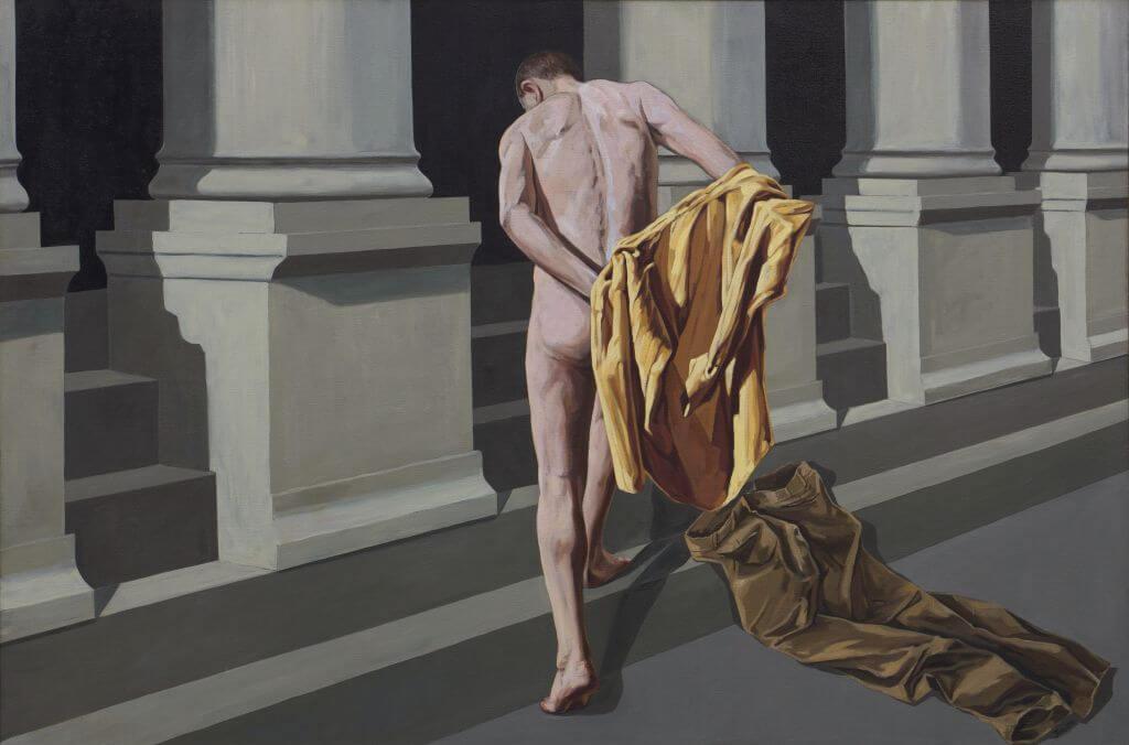Tadeusz Boruta, Św. Franciszek oddaje się pod opiekę Kościoła | 2003, olej / płótno, 185 × 275 cm, courtesy T. Boruta
