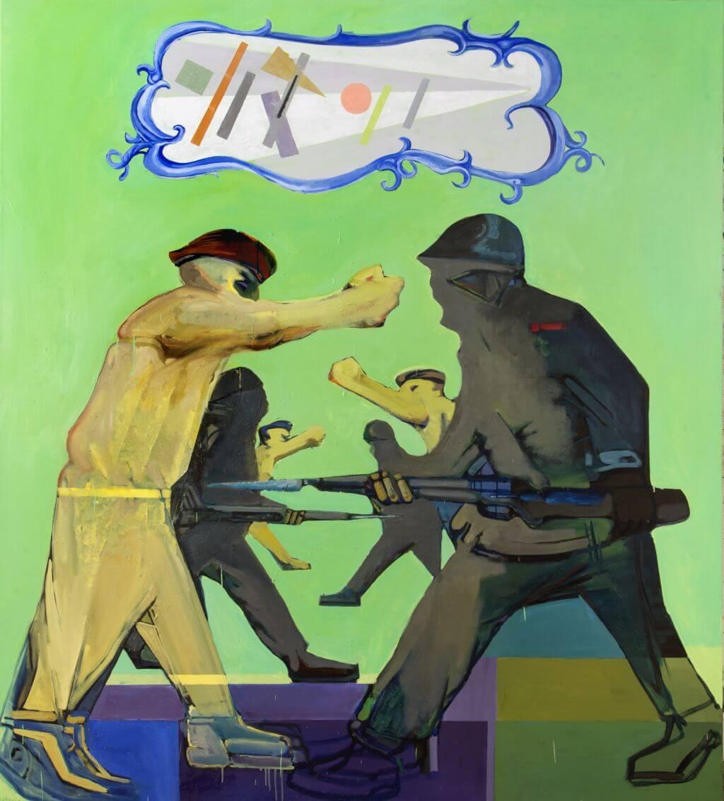 Jacek Sroka, Suprematismo o muerte! | 2013, olej / płótno, 200 × 180 cm, courtesy J. Sroka