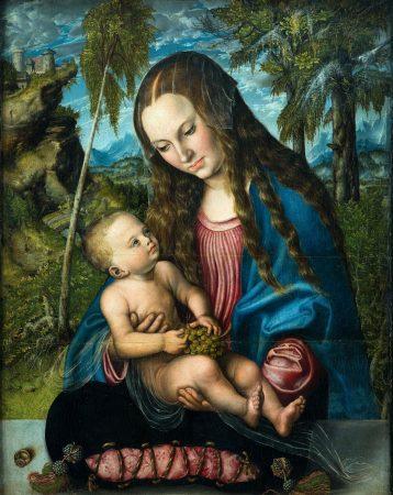 Lucas Cranach Starszy, Madonna  pod jodłami, 1510 r.
