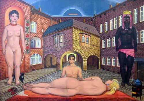 Erwin Sówka, Trzy róże Nikiszu    2005, olej, płótno