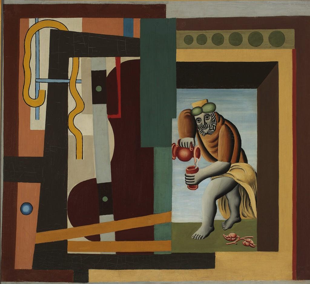 Marek Włodarski, Lejący wino | 1927, olej, płótno. Kolekcja Muzeum Narodowego w Warszawie © Krzysztof Wilczyński / Muzeum Narodowe w Warszawie