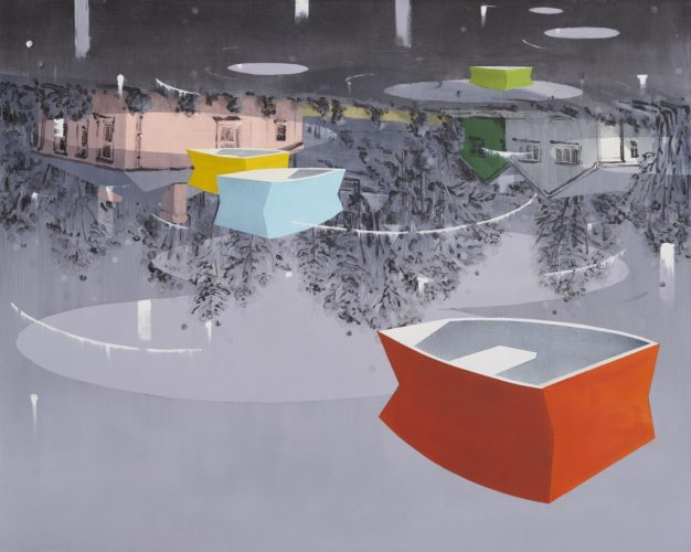 Paul Huxley, Lu – zielony III, 2009, akryl na płótnie, 127 × 127 cm