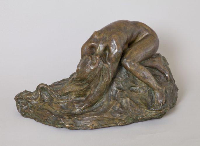 Konstanty Laszczka, Zrozpaczona, młoda polska, rzeźba, niezła sztuka