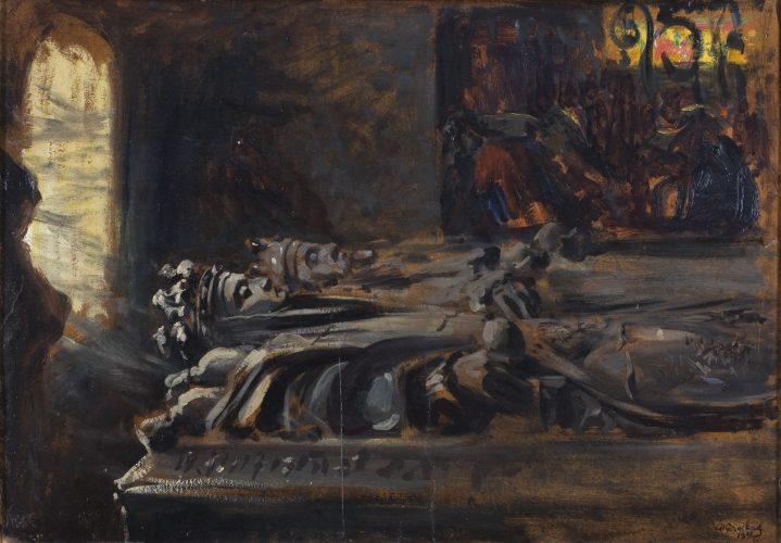 Leon, Wyczółkowski, Sarkofagi, młoda polska, malarstwo XIX w., niezła sztuka