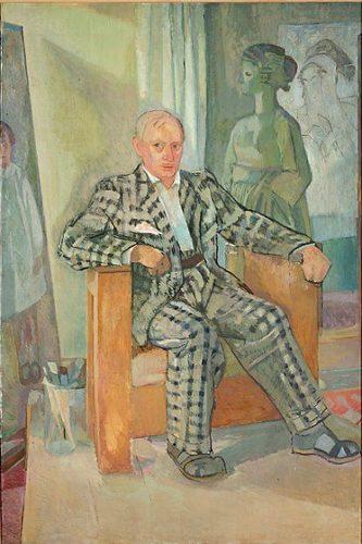 Xawery Dunikowski, Autoportret w garniturze w kratę