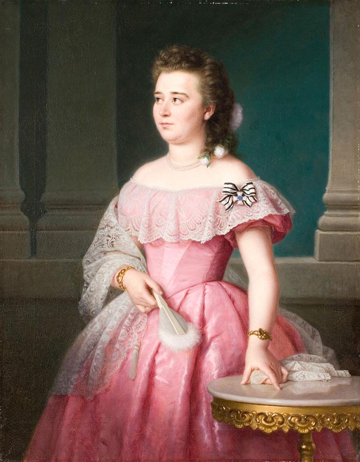 Galeria mody, Friedrick Keil, Portret panny Schlegel, malarstwo XIX w., sztuka niemiecka, niezła sztuka