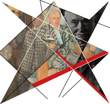Fragment plakatu towarzyszącego wystawie Xawery Dunikowski. Malarstwo w Muzeum Rzeźby w Królikarni