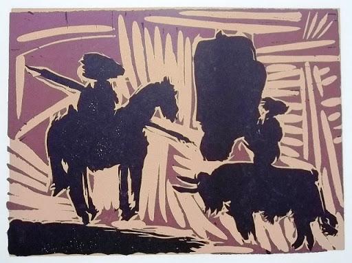Pablo Picasso, Corrida, linoryt, sztuka XX w., Niezła Sztuka