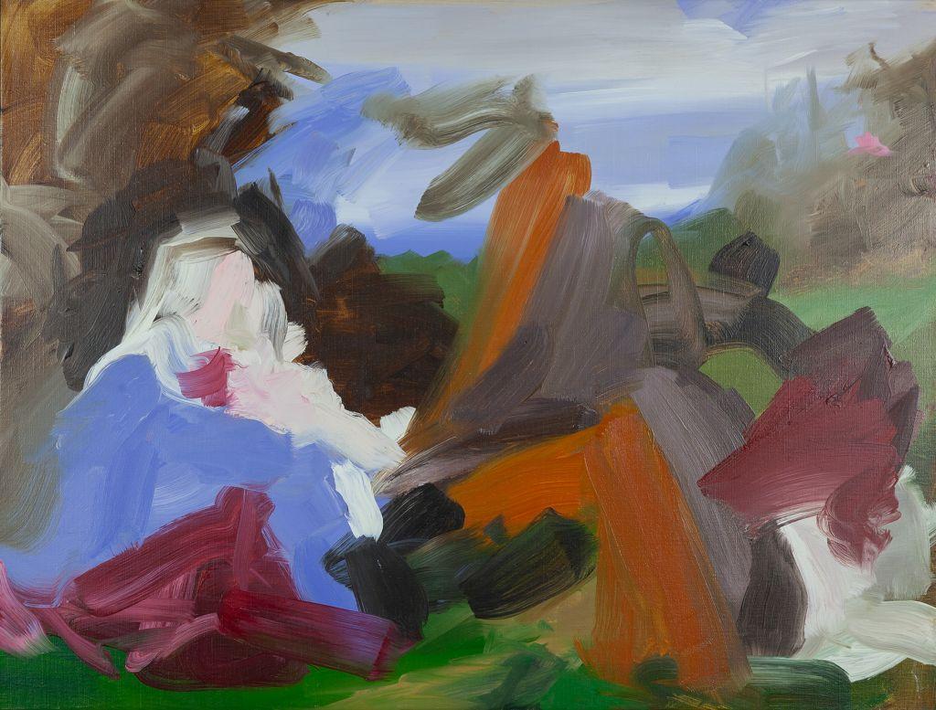Elise Ansel, Przeczucie II | 2013, olej / płótno, 76,5 × 102 cm, Kolekcja MOCAK-u