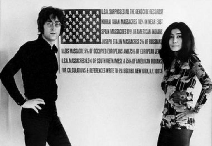 John Lennon, Yoko Ono, USA, fotografia, sztuka XX wieku, Niezła Sztuka