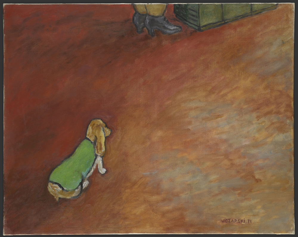 Józef Czapski, Piesek w zielonym płaszczyku, malarstwo polskie, sztuka XX w., Niezła Sztuka