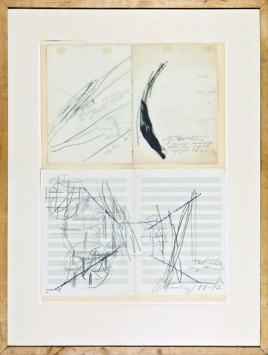 Joanna Przybyła, bez tytułu | 1988–1997, kredka, ołówek, tusz / papier, 85 × 65 cm, Kolekcja MOCAK-u