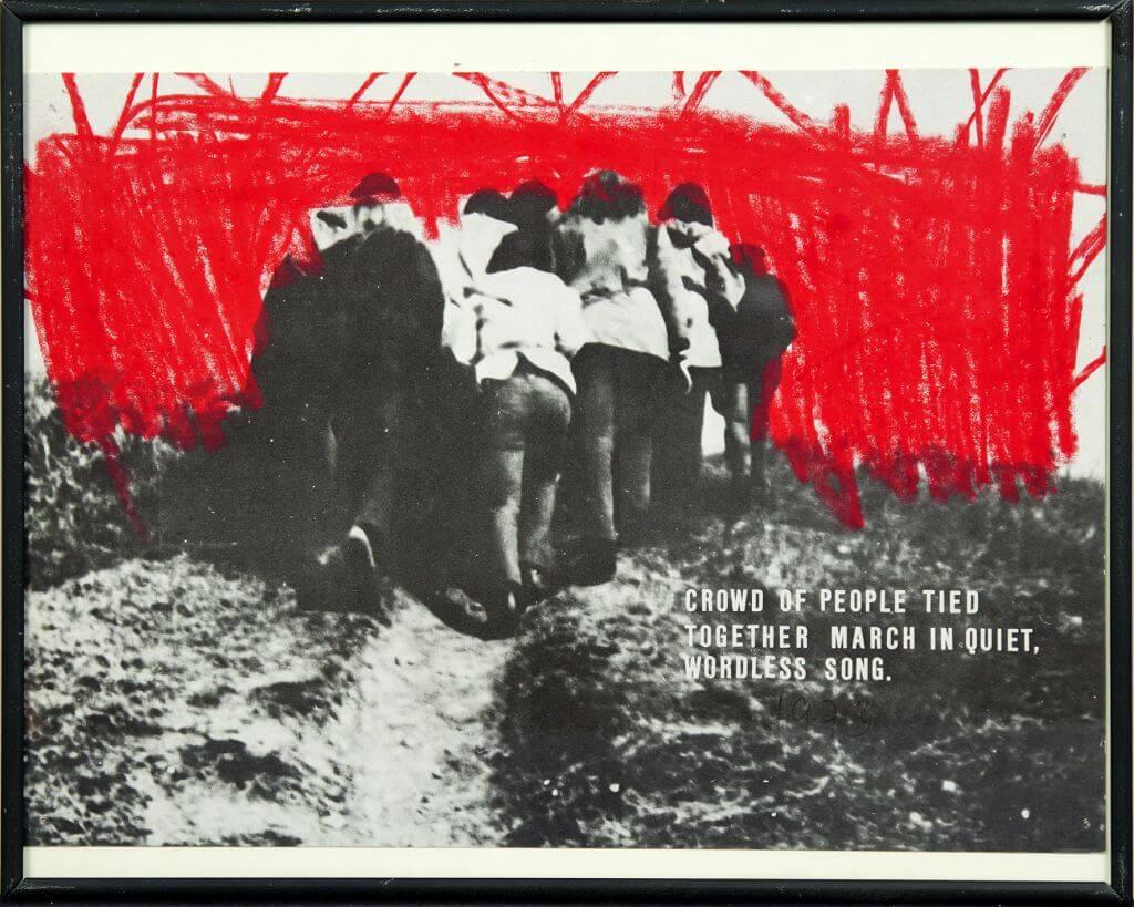Milan Knížák, Abfälle | 1973, serigrafia, kredka woskowa, litery samoprzylepne / papier, Kolekcja MOCAK-u