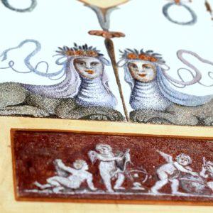 Fragment polichromii w Saloniku Groteskowym